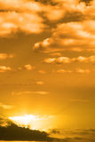 Cloudy orange sunset sky in the wild Atlantic way Stock Image