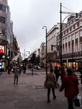 Cloudy Oxford Street stock photo