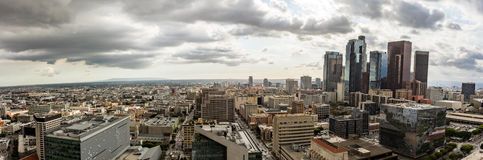 Cloudy panorama skyline of Los Angeles Stock Photography
