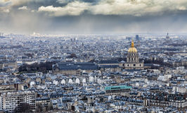 Cloudy Paris Stock Photo