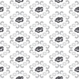 Cloudy Pattern. Seamless pattern design of cloud and wave, great as background or art and craft project royalty free illustration