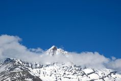 Cloudy peak Stock Photography