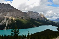 Cloudy Peyto Lake 4 stock photography
