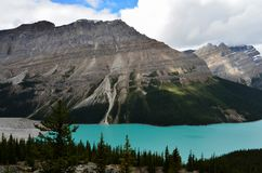 Cloudy Peyto Lake 8 stock image