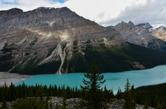 Cloudy Peyto Lake 1 royalty free stock photos