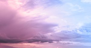 Cloudy Pink Sky. After the storm in summer time royalty free stock photos