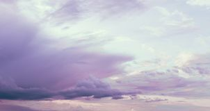 Cloudy Pink Sky royalty free stock image