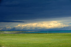 Cloudy in Qinghai lake Royalty Free Stock Image