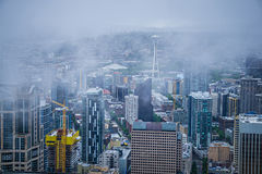 Cloudy and rainy day in seattle washington. Cloudy and rainy day in seattle  washington Stock Photography