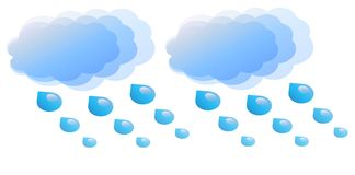 Cloudy and rainy. View of an icon that symbolyzes cloudy and rainy weather Royalty Free Stock Photography