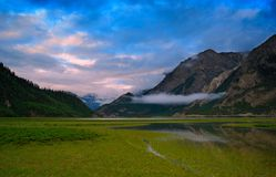 Cloudy Ranwu lake Royalty Free Stock Photos