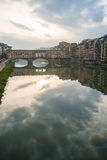 Cloudy river Florence Royalty Free Stock Photography