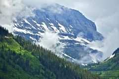 Cloudy Rocky Mountains Stock Photography