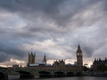 Cloudy scene of Westminster palace Stock Photography