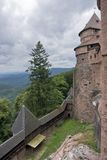 Cloudy scenery around Haut-Koenigsbourg Castle Royalty Free Stock Images