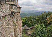 Cloudy scenery around Haut-Koenigsbourg Castle royalty free stock images