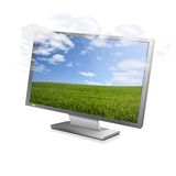 Cloudy screen Royalty Free Stock Images
