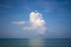 Cloudy and sea Royalty Free Stock Image