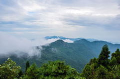 The Cloudy Sea of Hanshan Mountain Stock Photography