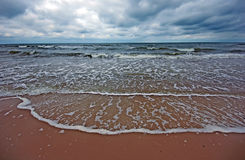 Cloudy sea landscape Stock Images