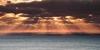Cloudy sea sunrise Royalty Free Stock Photo