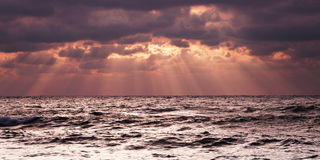 Cloudy sea sunrise Royalty Free Stock Image