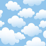 Cloudy seamless background Stock Image