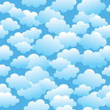 Cloudy seamless pattern Royalty Free Stock Images