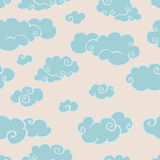 Cloudy seamless pattern Stock Photography