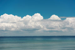 Cloudy seascape Stock Image