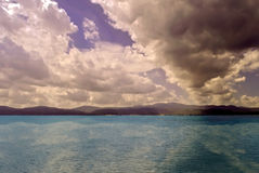 Cloudy seascape Royalty Free Stock Images