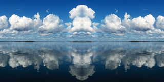 Cloudy Seascape Panorama. Stock Photo