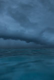 Cloudy seascape before storm Royalty Free Stock Images