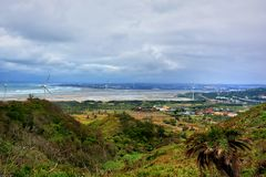 Cloudy seaside. In Miaoli, Taiwan Stock Photography