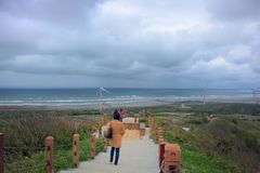 Cloudy seaside. In Miaoli, Taiwan Royalty Free Stock Images