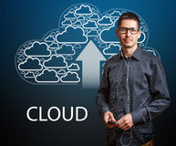 Cloudy service Stock Image
