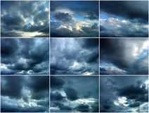 Cloudy skies Stock Photography