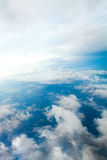 Cloudy Skies Aerial View Stock Photography