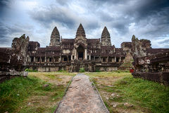 Cloudy Skies At Angkor Wat Stock Photo