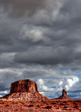 Cloudy Skies Monument Valley Stock Image