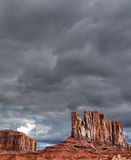 Cloudy Skies Monument Valley Royalty Free Stock Image