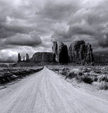 Cloudy Skies Monument Valley Stock Photos