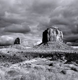 Cloudy Skies Monument Valley Stock Photo