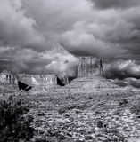 Cloudy Skies Monument Valley Royalty Free Stock Images