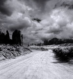 Cloudy Skies Monument Valley Stock Images