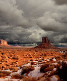 Cloudy Skies Monument Valley Royalty Free Stock Photos