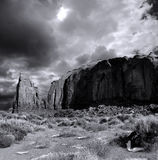 Cloudy Skies Monument Valley on Film Royalty Free Stock Photo