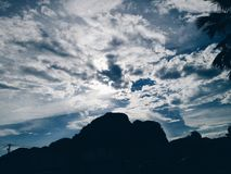 Cloudy skies nature royalty free stock photography