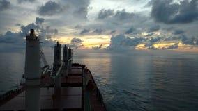 Cloudy skies. Ship Stock Image