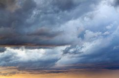 Cloudy skies, cloudy sky. Sky before the storm stock photography